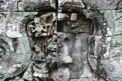The Bayon Temple - carvings on the tower